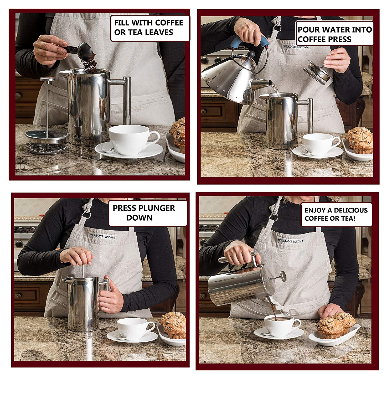 French Press Extra Coffee Maker & Tea Maker info