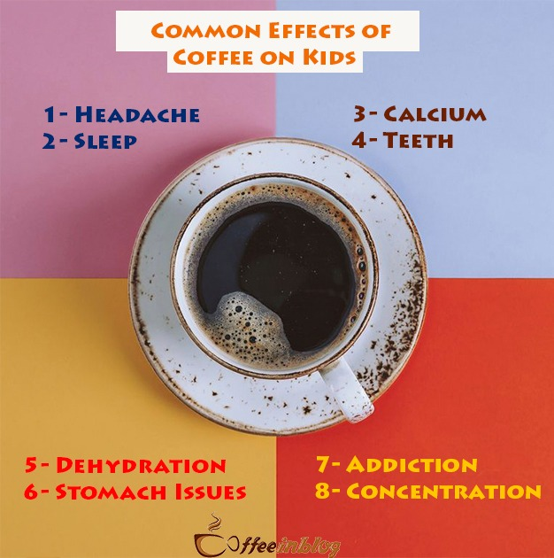 Common effects of coffee on kids