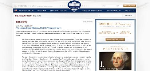 presidential blog