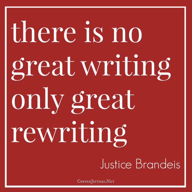there is no great writing only great rewriting