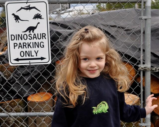dinosaur parking