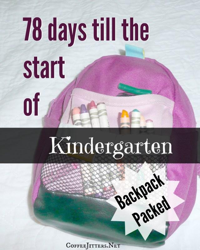 ready for kindergartenv- backpack