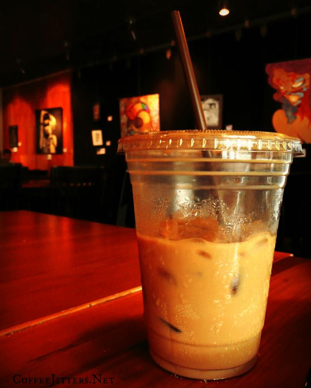 coffee shop iced latte