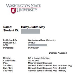 transcript Judy Schwartz Haley