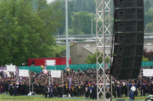 graduates waiting to walk at commencement