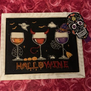 coffee, wine, halloween, pumpkins, witches