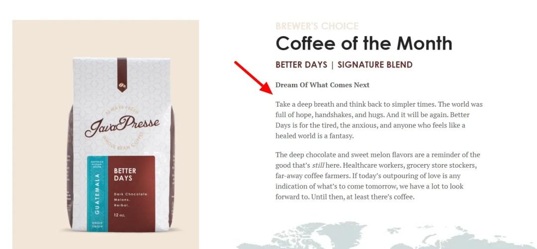 utopian coffee marketing