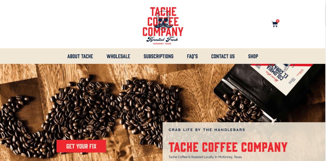 tache coffee website teardown