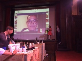 12.00 - highlight was my live interiew with world latte art Champion 2015, Caleb Cha!Thank you!