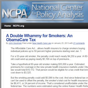 A Double Whammy for Smokers An ObamaCare Tax  Health Policy Blog  NCPA.org - Google Chrome 5312015 42258 PM