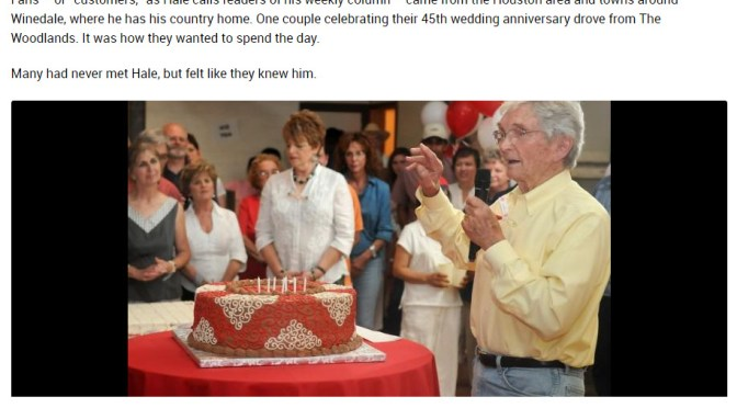 600 turn out for birthday cake with Leon Hale – Leon Hale