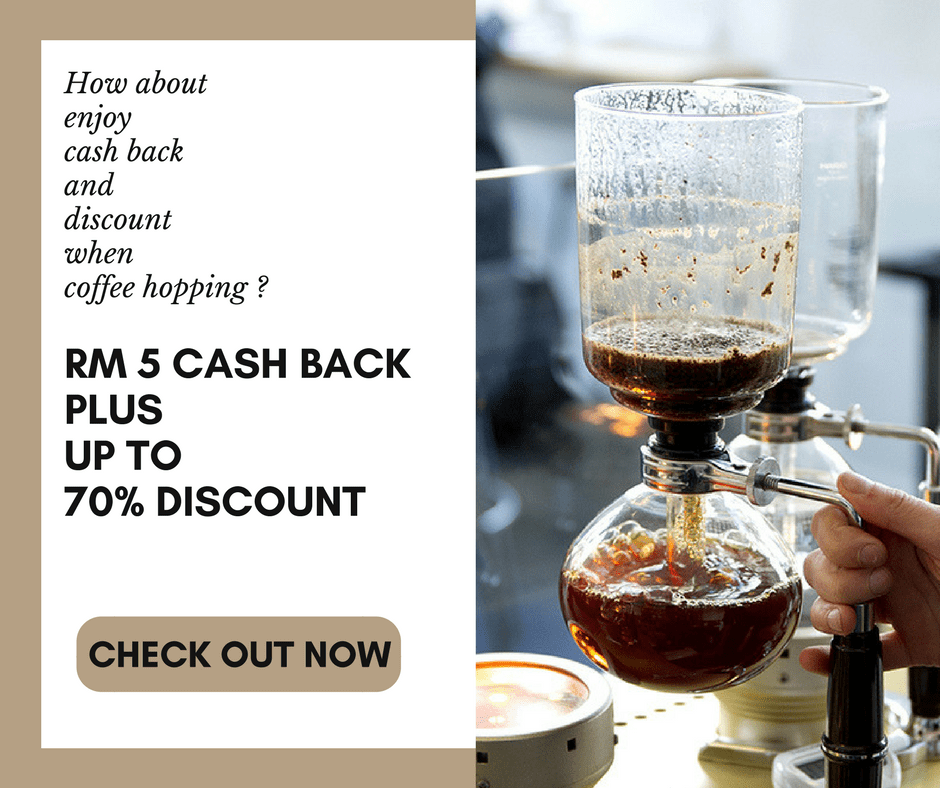 cash back plus discount when coffee hopping