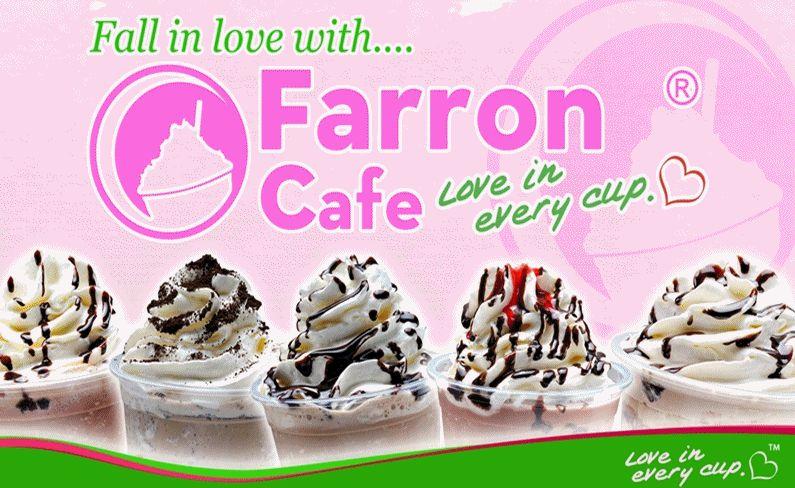 Farron Cafe slogan and logo