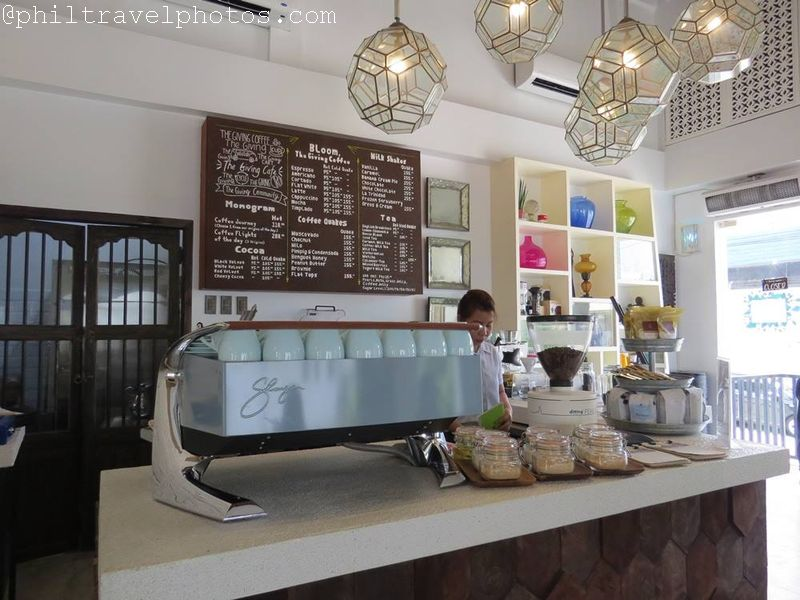 the giving cafe counter