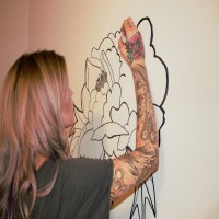 DIY on a Budget! Hand Drawn Floral Wall Mural