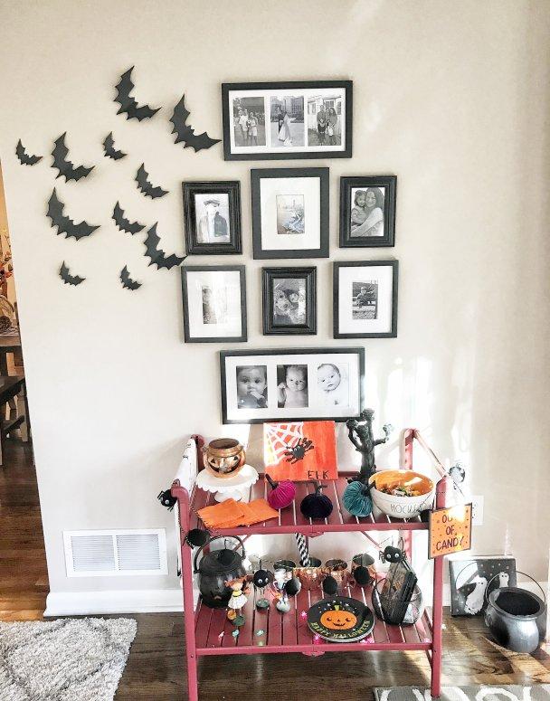 How to Create a Halloween Themed Bar Cart