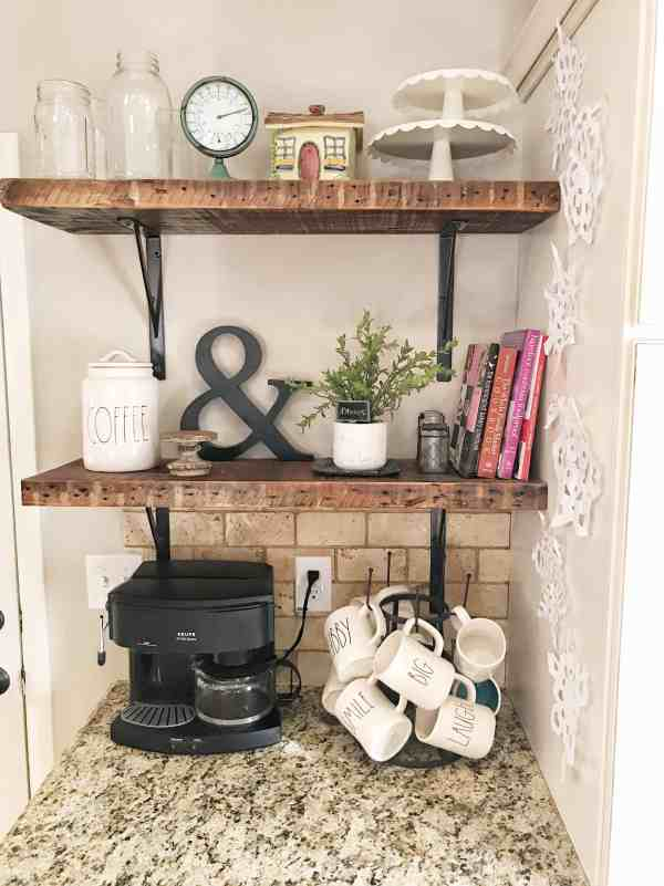 How to get the farmhouse look by using open shelving