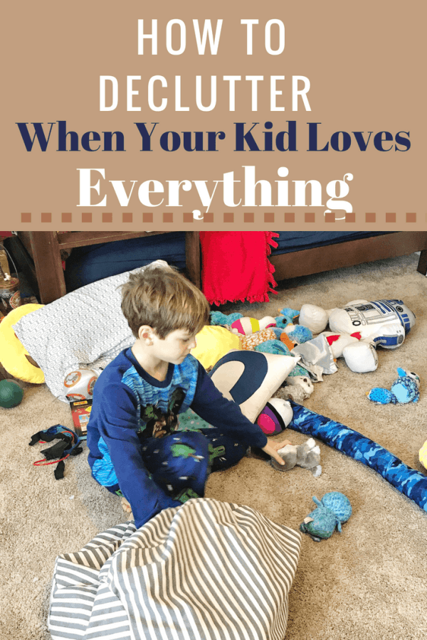 How to Declutter When Your Kids Don't Want to Get Rid of Anything #kids #organization #toyorganization