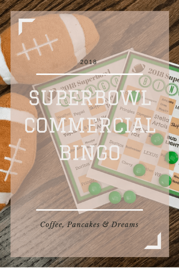 Superbowl Commercial Bingo