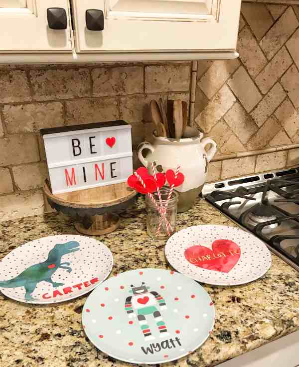 Valentine's Day Personalized Plates