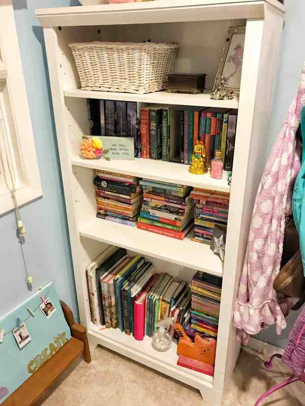 "Tween Girl Decluttering Project ""before"" and ""after"""