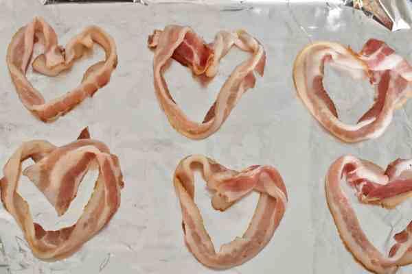 Valentine's Day Breakfast: Heart Shaped Bacon