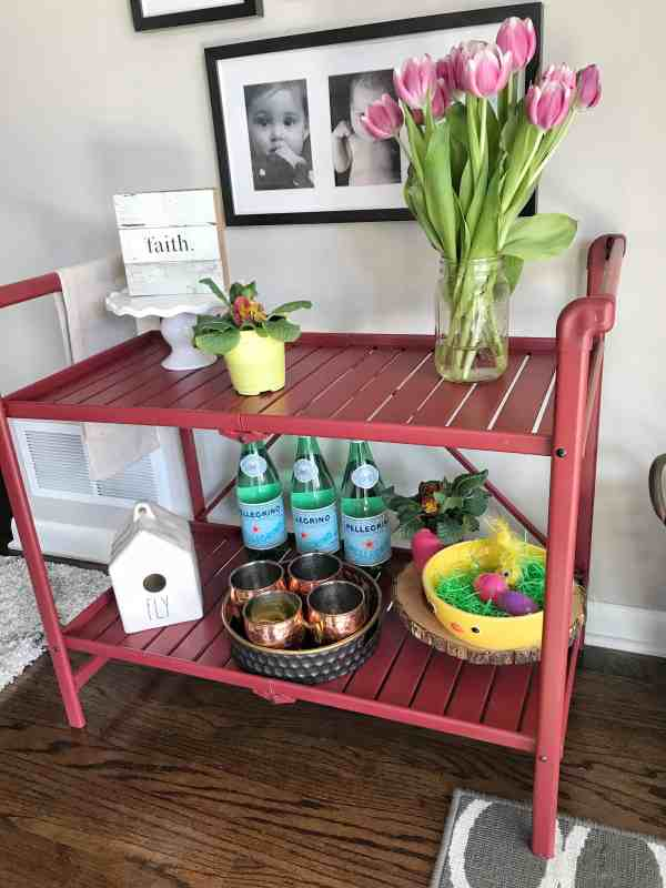 How to Style a Bar Cart for the Spring