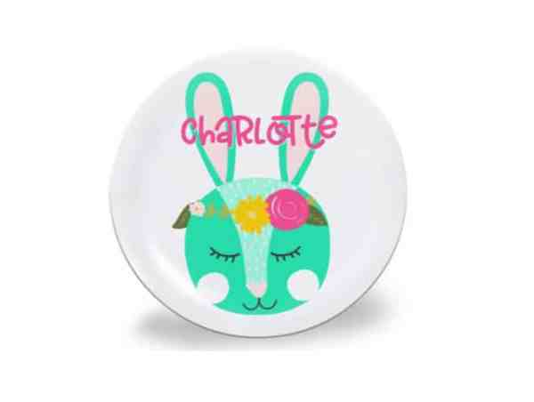 Cute Personalized Easter Plate for Kids