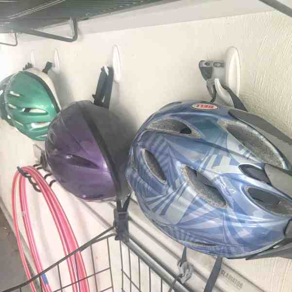 Use Command Hooks to Organize Bike Helmets