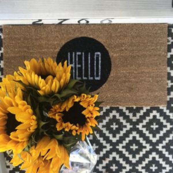 Layered door mat inspiration #farmhousestyle #porchideas #frontdoor