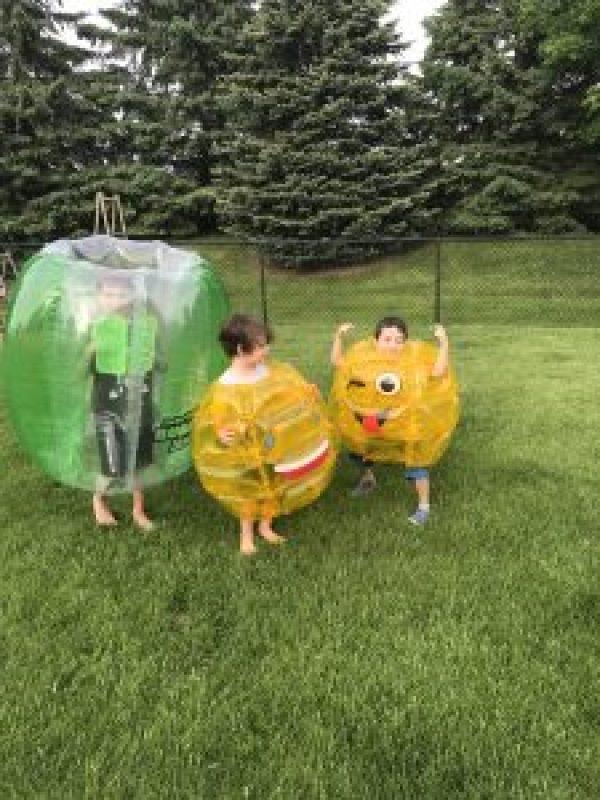 Outdoor Fun with Emoji Balls
