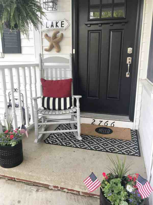 Festive Americana Porch
