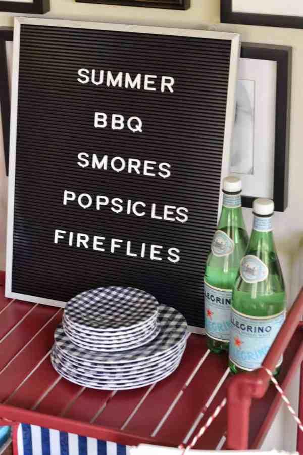 Summer Letterboard Ideas