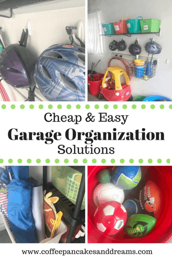 Garage Organization Ideas for Less #garageorganization #diygarageideas
