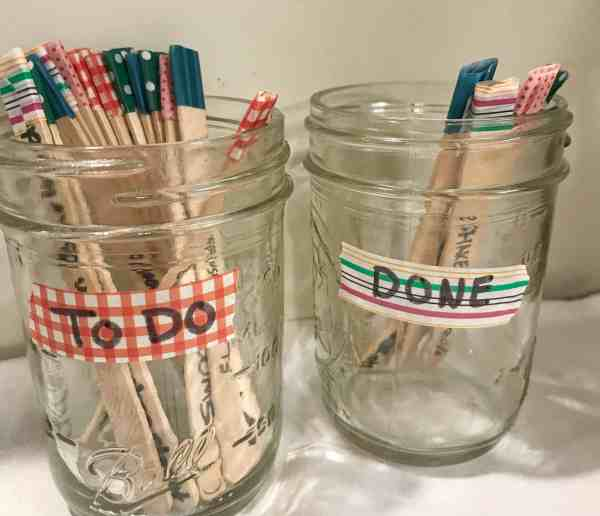 Kids Pick One Popsicle Stick Chore for 15 minutes of screen time