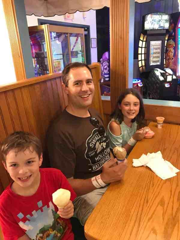 Homemade Ice Cream at Swings N Things
