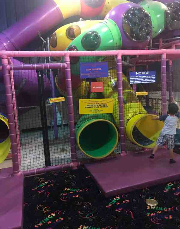 Play zone at Swings N Things