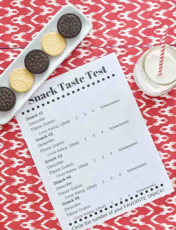 Surprise your kids with a snack taste test party