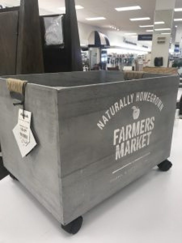 Farmhouse Rolling Bin perfect for a toy container #kids #organization #farmhousestyle