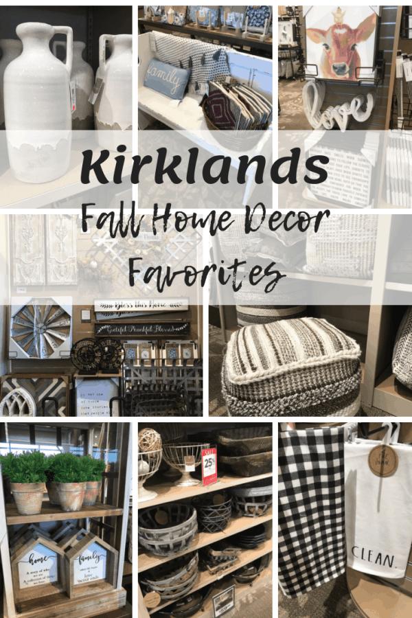 Farmhouse Home Decor Finds at Kirklands #falldecor #farmhousestyle #kirklands