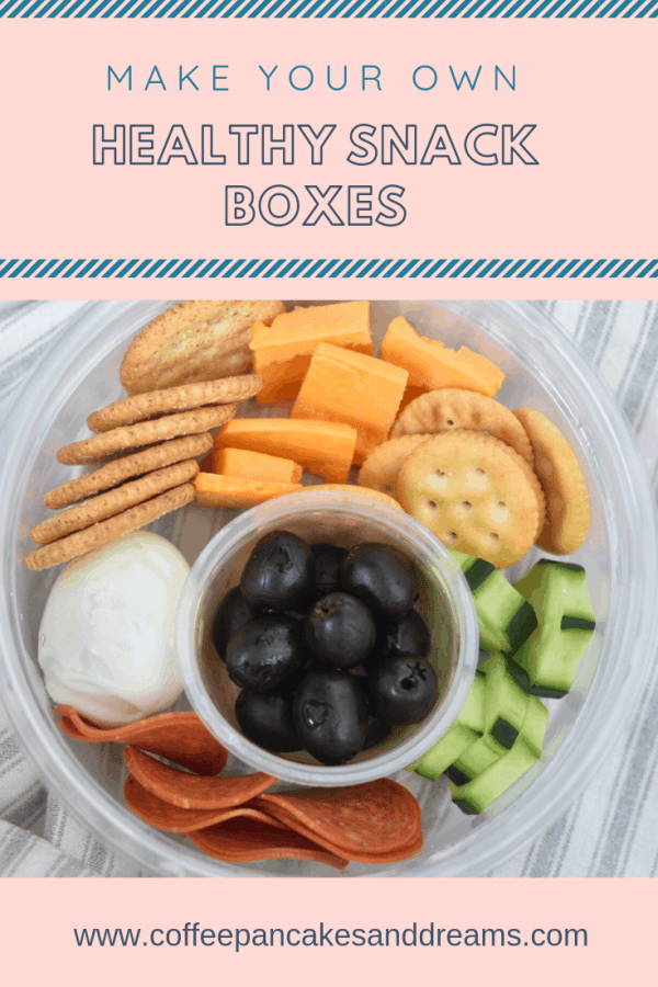 Make your own healthy snack boxes for on the go snacking! #makeaheadsnacks #healthysnacking #healthyeating #busymom