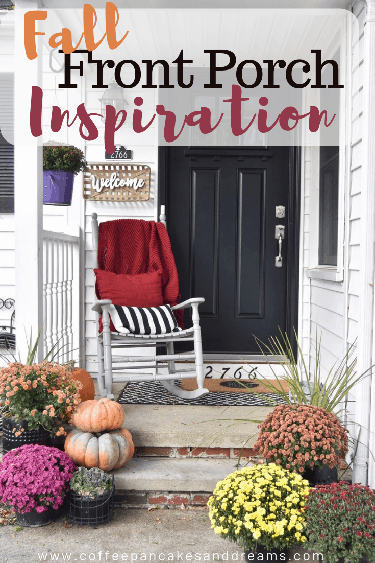 fall front porch decor #frontdoor #fixerupper #farmhouse #small