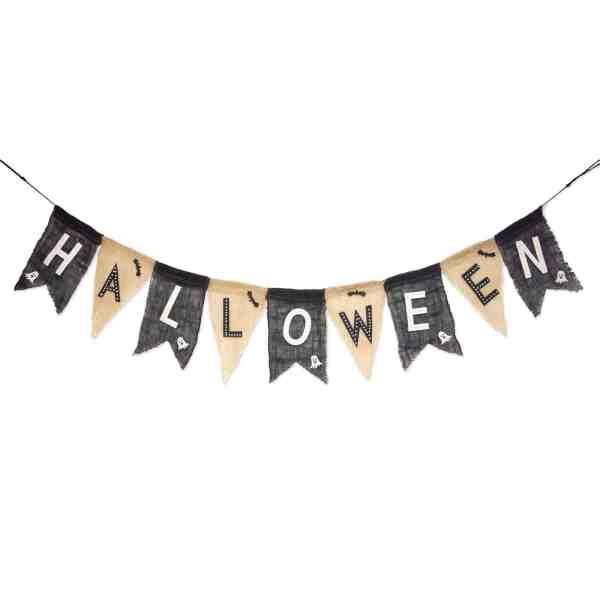 Farmhouse Halloween Decor #garland #inexpensive #halloweenmantle