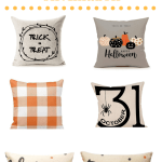 Farmhouse Halloween Pillows #inexpensive #ideas #decor