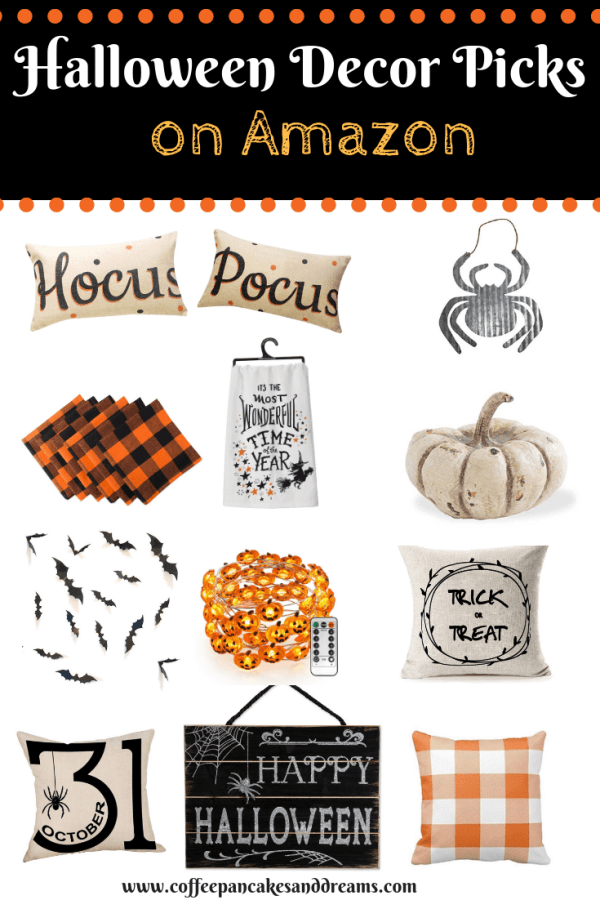 Inexpensive Halloween Farmhouse Decor #amazon #falldecor #halloween