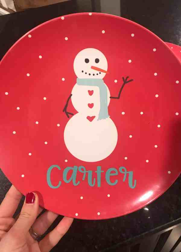 Kids Christmas Plates #personalized #customgifts #unique #baby #kids