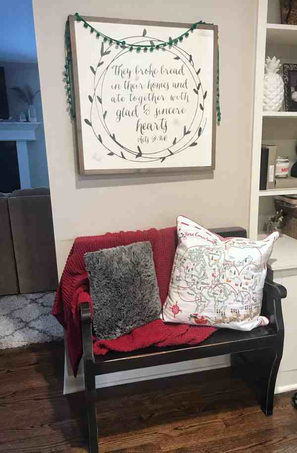 Christmas Home Tour 2018 #farmhouse #shabbychic #diy