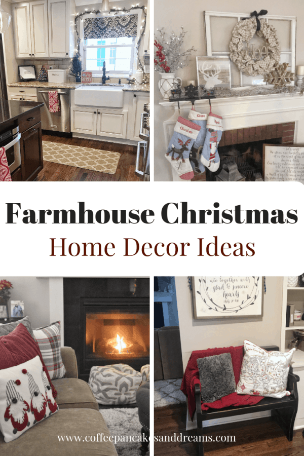 Farmhouse Christmas Decorating Ideas #rustic #fixerupper #kitchen #mantle #countrycottage