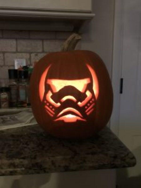 Stormtrooper Jack-o-Lantern #pumpkincarving #star wars