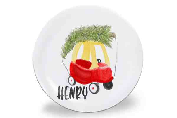 Personalized Christmas Plates #kids #babies #toddlers #personalizedgifts